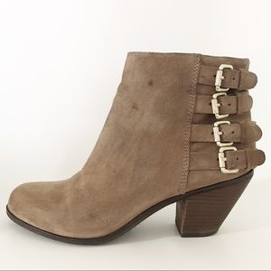 Sam Edelman Lucca Suede 4 Buckle Ankle Boot